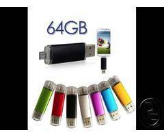 OTG and USB2.0 Flash Drive  - Multicolour 64GB Smart Phone Android OTG Micro Pen Drive