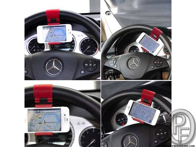 Steering Wheel Car Phone Holder in Mumbai, Maharashtra, India in Accessories category under budget 599.00 INR ₹