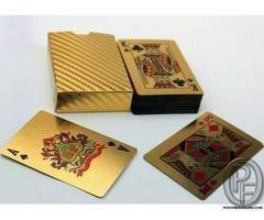Pure 24 K Carat Gold Foil Plated Poker Playing Cards 52 Cards 2 Jokers Special Gift Poker Set