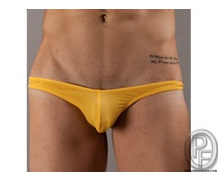 Sexy NEW Men's Briefs Mesh Hole Thongs Shorts Low Rise G-string Underwear