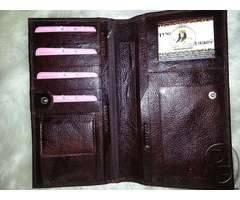 Leather wallets for men are available for sale